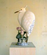 pot/white heron  2007  h85×45×45cm