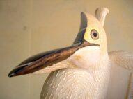 up  pot/white heron