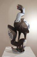 heron/pot/heron(black)  2010  h80×40×40cm