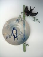 bamboo&swallow/plate  2008  h47×36×8cm