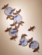 sparrows/plate set  2010  h130×90×7cm