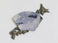 Japan map/plate  2010  h30×40×5cm